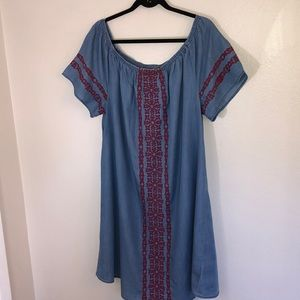 Style & Co size XL embroideries chambray dress